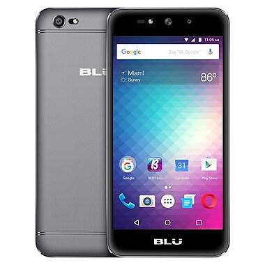 BLU - Téléphone cellulaire déverrouillé Grand Max 5 po, 1,3 GHz 4 coeurs, 8 Go, gris (G110Q)