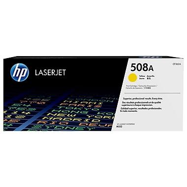 HP – Cartouche de toner jaune LaserJet d'origine 508A (CF362A)