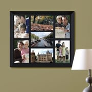Homebeez 7 Slot Square Wood Picture Frame; Black