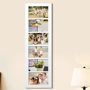 Homebeez 6 Slot Wood Collage Picture Frame; White