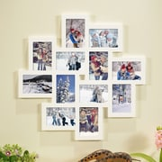 Homebeez 12 Slot Wood Collage Picture Frame; White