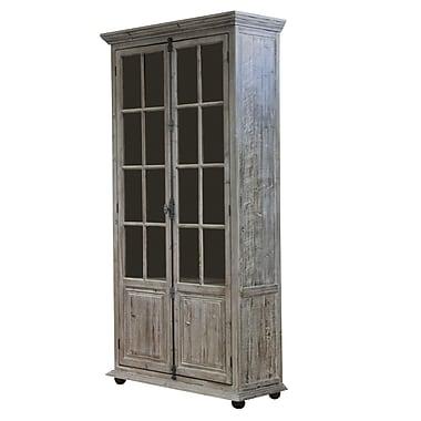 MOTI Furniture Syracuse Glazed 2 Doors Accent Cabinet