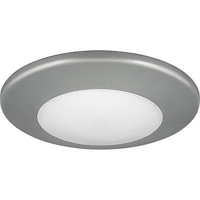Winston Porter Bolander 1-Light LED Flush Mount; Metallic Gray