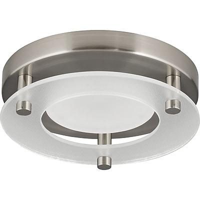 Winston Porter Bolger 1-Light Flush Mount; Brushed Nickel