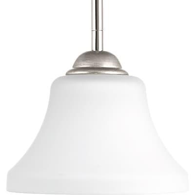 Winston Porter Bourdeau 1-Light Mini Pendant; Polished Nickel