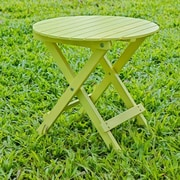 HRH Designs Round Side Table; Yellow