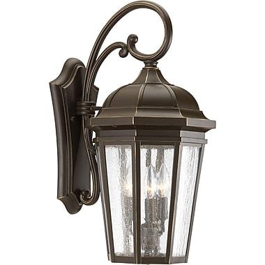 Alcott Hill Edgewater Traditional 3-Light Outdoor Wall Lantern; Antique Bronze