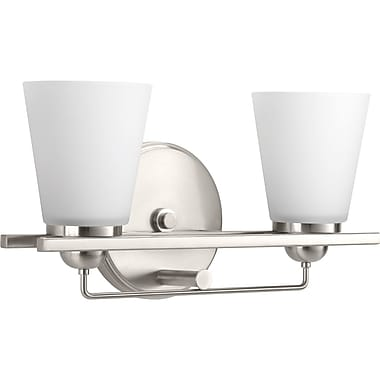 Ebern Designs Atlantic 2-Light Vanity Light; Polished Chrome