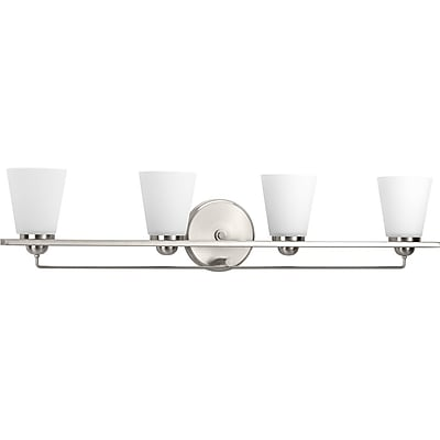 Ebern Designs Atlantic 4-Light Vanity Light; Polished Chrome