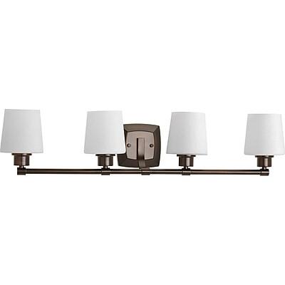 Winston Porter Blocher 4-Light Vanity Light; Antique Bronze