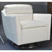 Moroni Clio Full Top Grain Arm Chair; White