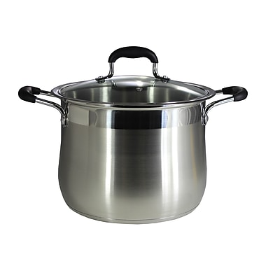 Concord Stainless Steel Stock Pot w/ Lid; 5 Quarts