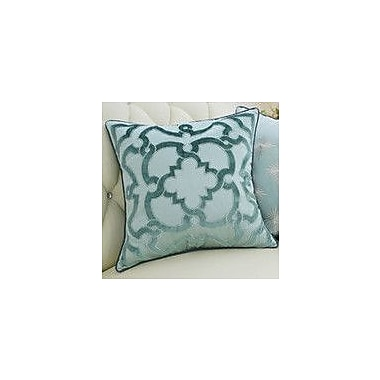 G Home Collection Luxury Moroccan Floral Pillow Cover; Green