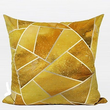 G Home Collection Luxury Geometry Flannel Pillow Cover; Yellow