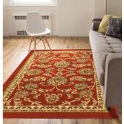 Well Woven Kings Court Tabriz Red Indoor/Outdoor Area Rug; 5' x 7'