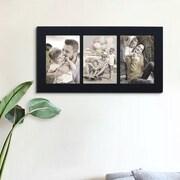Homebeez 3 Slot Wood Artwork Picture Frame