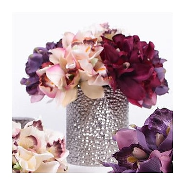 G Home Collection Luxury Silk Cymbidium Orchid Bouquet Flower Floral Arrangements; Champagne Pink