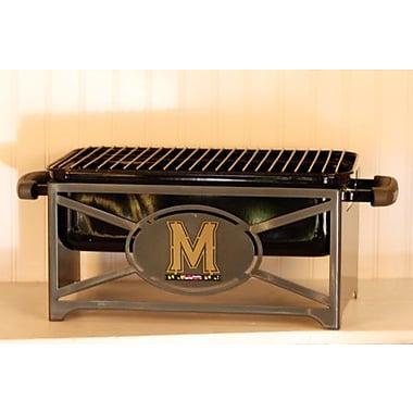 HensonMetalWorks NCAA Portable Tailgating Hibachi Grill Stand; University of Maryland
