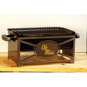 HensonMetalWorks NCAA Portable Tailgating Hibachi Grill Stand; University of Mississippi