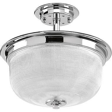 Latitude Run Cambarville 2-Light Semi Flush Mount; Polished Chrome