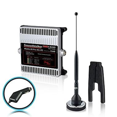 Smoothtalker – Ens. d'amplific. signal téléph. de véhicule Mobile X6 PRO 53 dB 4G LTE extrême puiss., 6 bandes (BMCX653M11PC)
