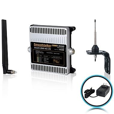 Smoothtalker – Ens. d'amplificateur de signal téléph. Stealth Z6 60 dB 4G LTE haute puissance 6 bandes, couvre jusqu'à 3500 pi2