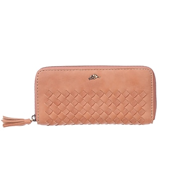 Roots 73 Zippered Round Clutch, Desert Peach
