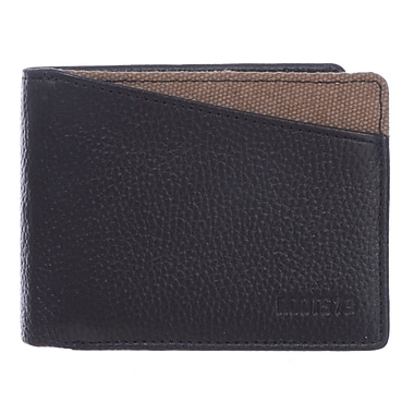 Roots 73 Leather Slim Mens Wallet, Black Combo