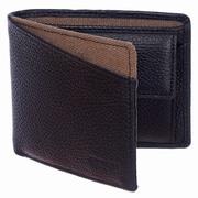 Roots 73 – Portefeuille mince en cuir avec pochette pour monnaie