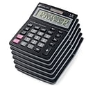 6-Pk. Avalon 12 Digit Dual Powered Desktop Calculator