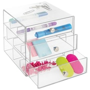 InterDesign Original 3-Drawer Plastic Glasses Drawers, Clear (35330)