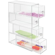 Clarity Cosmetic Organizer for Vanity or Office Supply Cabinet- 4 Drawers, Clear (36560)