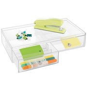 InterDesign Plastic 2-Drawers Glasses Organizer, Clear (39760)