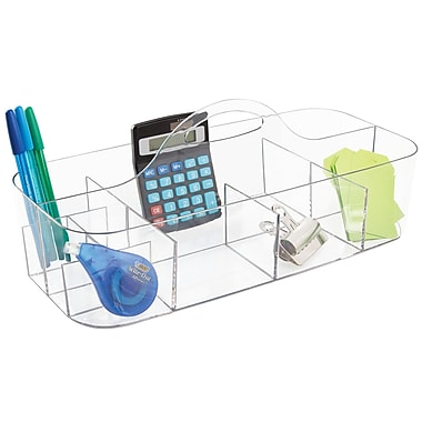 InterDesign Clarity Cosmetic Vanity Cabinet Organizer Tote for Makeup and Beauty Products, Clear (39780)