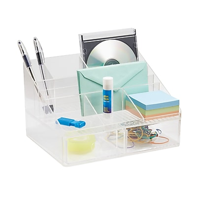 linus office supplies desk organizer with drawers for pens sticky rh staples com staples white desk organizer staples white desk organizer