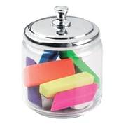 InterDesign® York Medium Apothecary Jar, Clear/Chrome