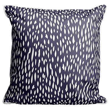 Island Girl Home Hipster Coral Throw Pillow; Navy