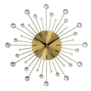 Cole & Grey 15'' Wall Clock; Gold
