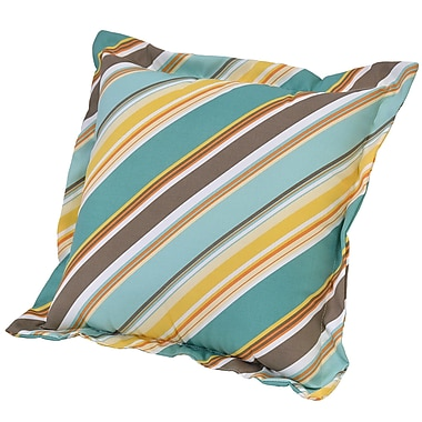 Ebern Designs Allegra Stripe Deep Seating Outdoor Throw Pillow
