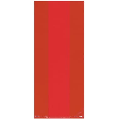 Amscan Cello Party Bags, 11.5''H x 5''W x 3.25''D, Red, 9/Pack, 25 Per Pack (379510.40)