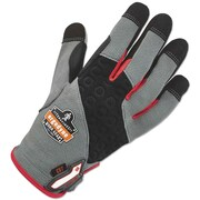 Ergodyne Proflex 710cr Heavy-Duty + Cut Resistance Gloves, Gray, Medium, 1 Pair