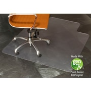 "ES Robbins BioBased Chairmat, 45"" x 53"", Lipped Hard Floor"