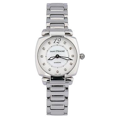 Saint Honore – Montre suisse Quartz à diamants pour femmes (21107) de 28 mm, acier inoxydable