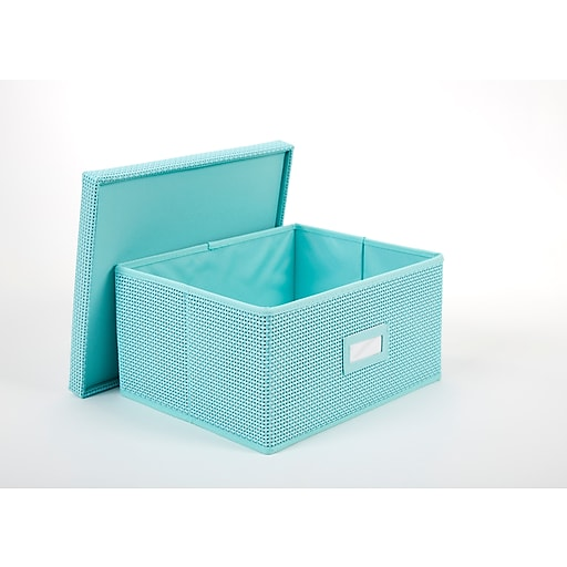 Wondrous Office By Martha Stewart Office Storage System Half Bin Blue 44636 Home Interior And Landscaping Pimpapssignezvosmurscom