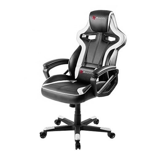 Arozzi Milano Ergonomic Gaming Chair White Black Milano Wt Staples