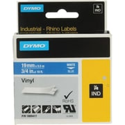 "Dymo 1805417 0.47"" Permanent Adhesive Color Coded Tape, White on Blue"