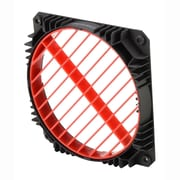 Enermax 360 deg Rotatable Grill Air Guide for 12 cm Fan Slot, Red/Black, 2/Pack (EAG001-R)