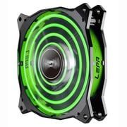 LEPA Chopper Advance 1500 RPM 120 mm Cooling Fan, Black/Green (LPCPA12P)
