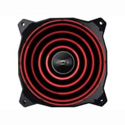 LEPA Chopper Advance 1500 RPM 120 mm Cooling Fan, Black/Red (LPCPA12P)