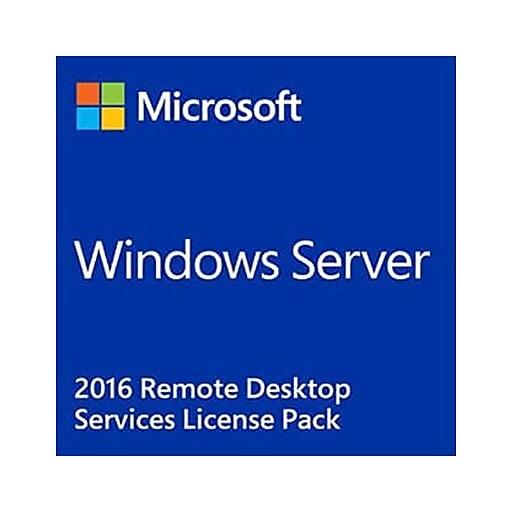 Microsoft Windows Server 2016 Remote Desktop Services Software License, 5  User CALs (871232-DN1)